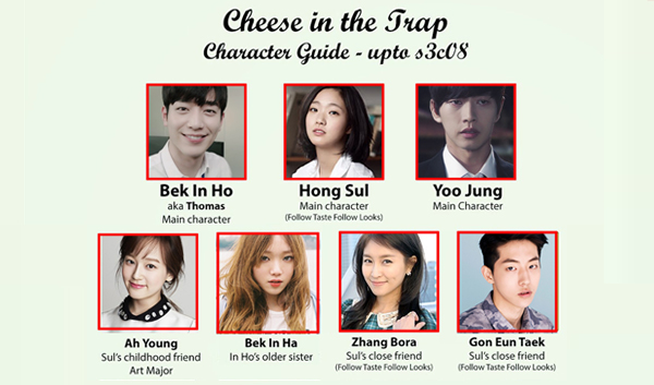 Cheese In The Trap drama cast