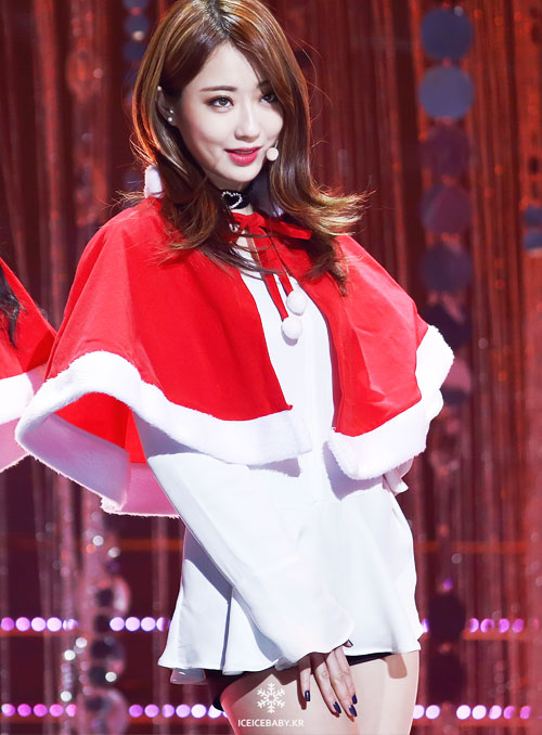 kyungri 9muses kpop sexy santa girl christmas 2015