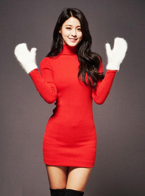 seolhyun aoa kpop sexy santa girl christmas 2015