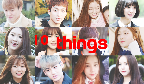 10THINGS IDOL CSAT SUNEUNG