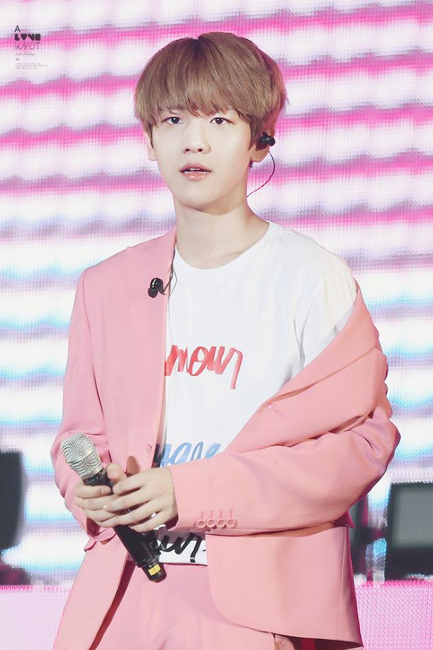 photo    exo baekhyun with red and pink  u2022 kpopmap