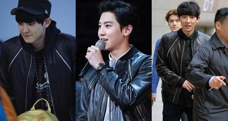 chan yeol leather jacket