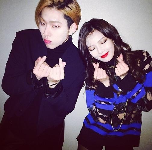 hyuna zico finger heart