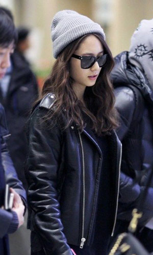 krystal leather jacket