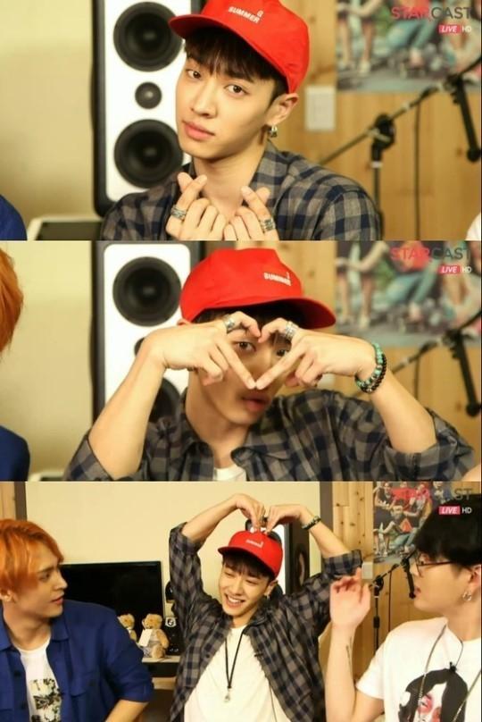 lee kikwang finger heart