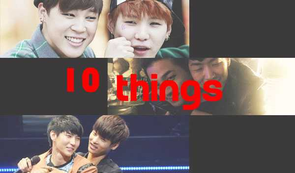 10 Things Bromance Caught In K-Idol Photos
