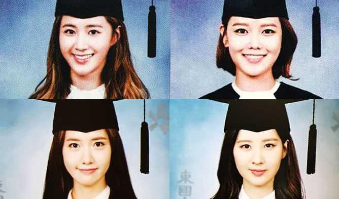 Chung-Ang University sooyoung yuri graduation, 4 Girls' Generation Members' University Graduation Photos