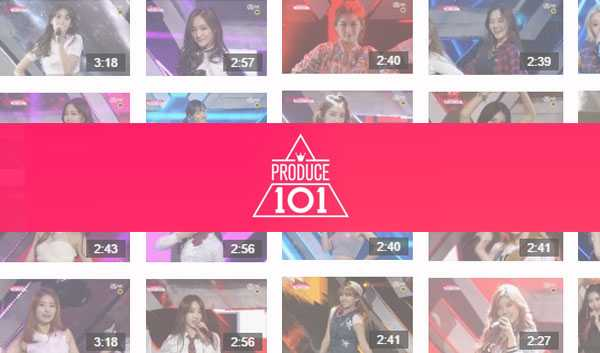 Top 11 Produce 101 NAVER tvcast Fancam Views as of februaty 11