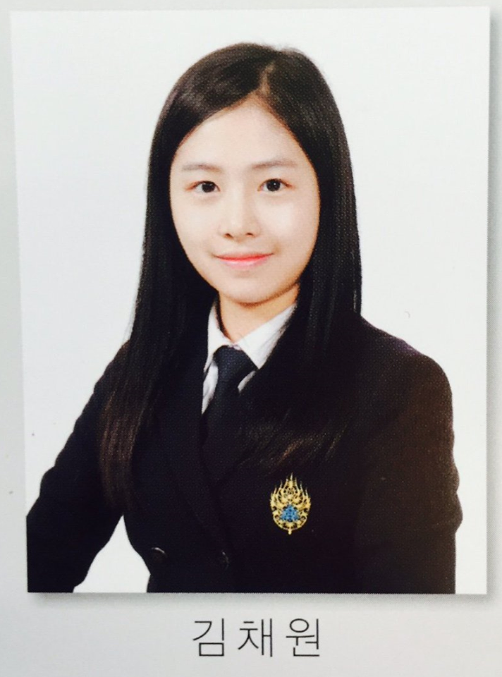april chaewon high school graduation yearbook photo