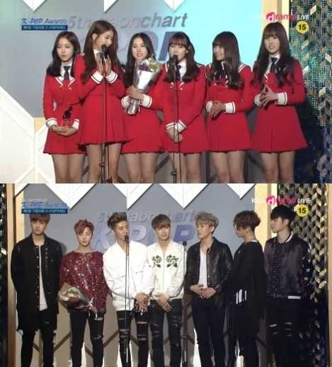 gfriend ikon gaon awards