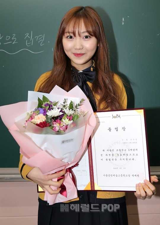 lovelyz ryu soojeong graduating high school yearbook photos