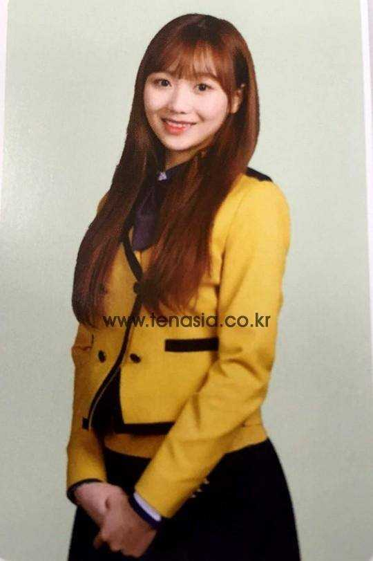 lovelyz soojeong high school graduation yearbook photo