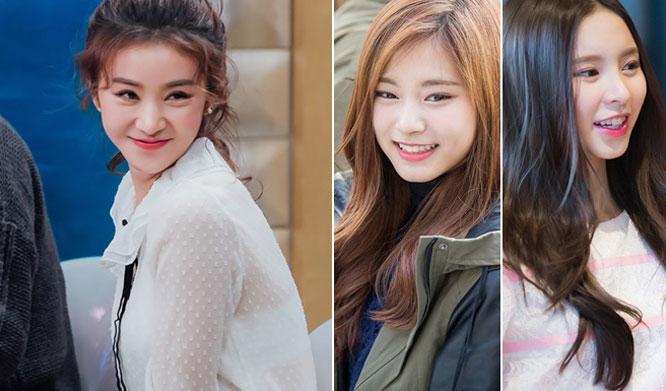 non korean kpop idols female twice tzuyu fiestar caolu clc elkie ,