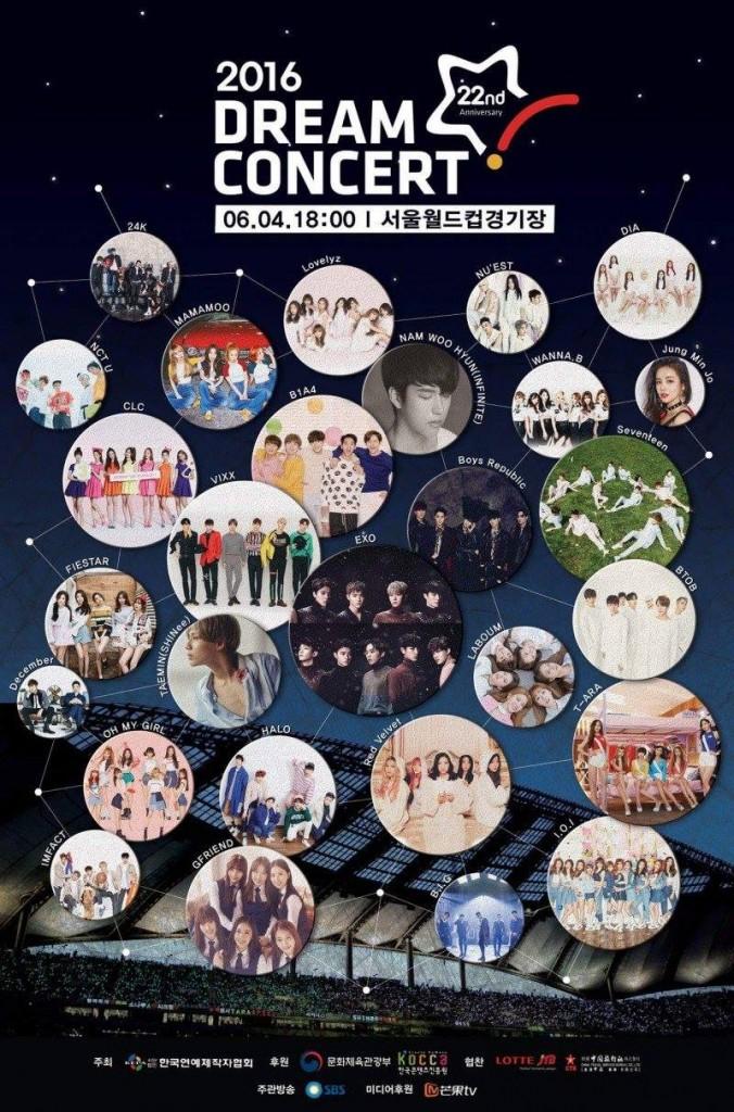 2016 dream concert, 2016 dream concert lineup, 2016 dream concert exo, 2016 dream concert seventeen, 2016 dream concert ioi