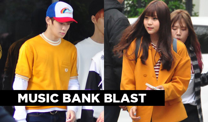 music bank, kpop, kpop idols, kpop idols couple , kpop idols couple look, kpop couple looks, april music bank, btob, nct u, vixx, gfriend, oh my girl, zico, yoo sungeun, nct u, berry good, got7, defcon, history, cnblue, block b
