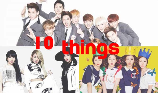 10 things, kpop profiles, kpop members, group members, exo, red velvet, exo members, red velvet members, 2ne1, 2ne1 minzy, 2ne1 members, brave girls, brave girls members, rania, rania members, kpop, wonder girls, tara, super junior members, exid members