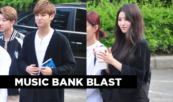 music bank, kpop, kpop couples, kpop couple looks, kpop, kpop couples, music bank couples, lovelyz, bts, vav, twice, seventeen, nam woohyun, stephanie, berry good, april,, up10tion