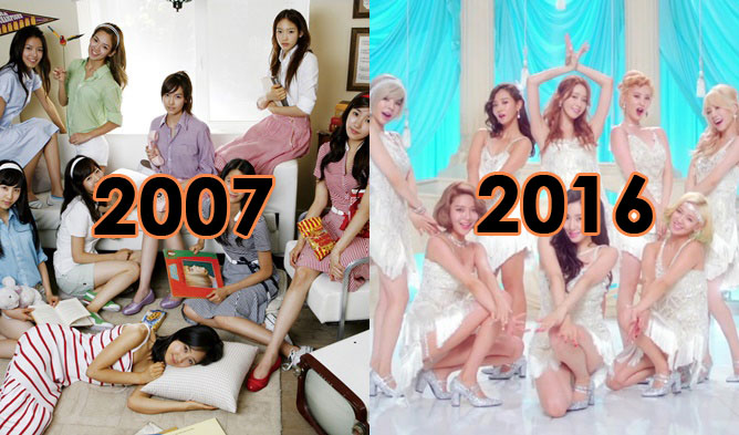 kpop groups, kpop idols, kpop idol groups, kpop groups then and now, kpop before and after, big bang before and after, snsd before and after, 4minute before and after, wonder girls before and after, bts before and after, exo before and after, aoa before and after, 2ne1 before and after, shinee before and after