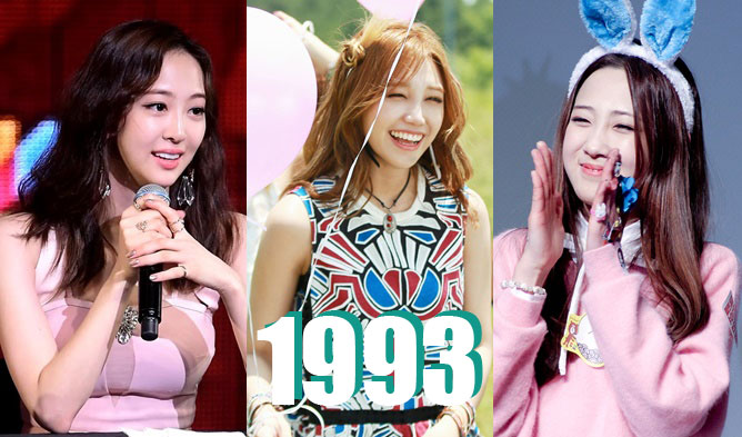 kpop birthdays, kpop idols birthdays, kpop 1993 line, kpop 1993, dasom birthday, luna birthday, mina birthday, eunji birthday, bomi birthday, jiae birthday, hyomin birthday, hyerin birthday, minah birthday, IU birthday