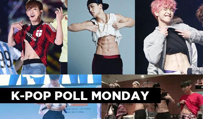 kpop poll, kpop summer poll, kpop idol abs, moonbin abs, bobby abs, wonho abs, monsta x wonho abs, neoz school abs, rowoon abs, xiao abs
