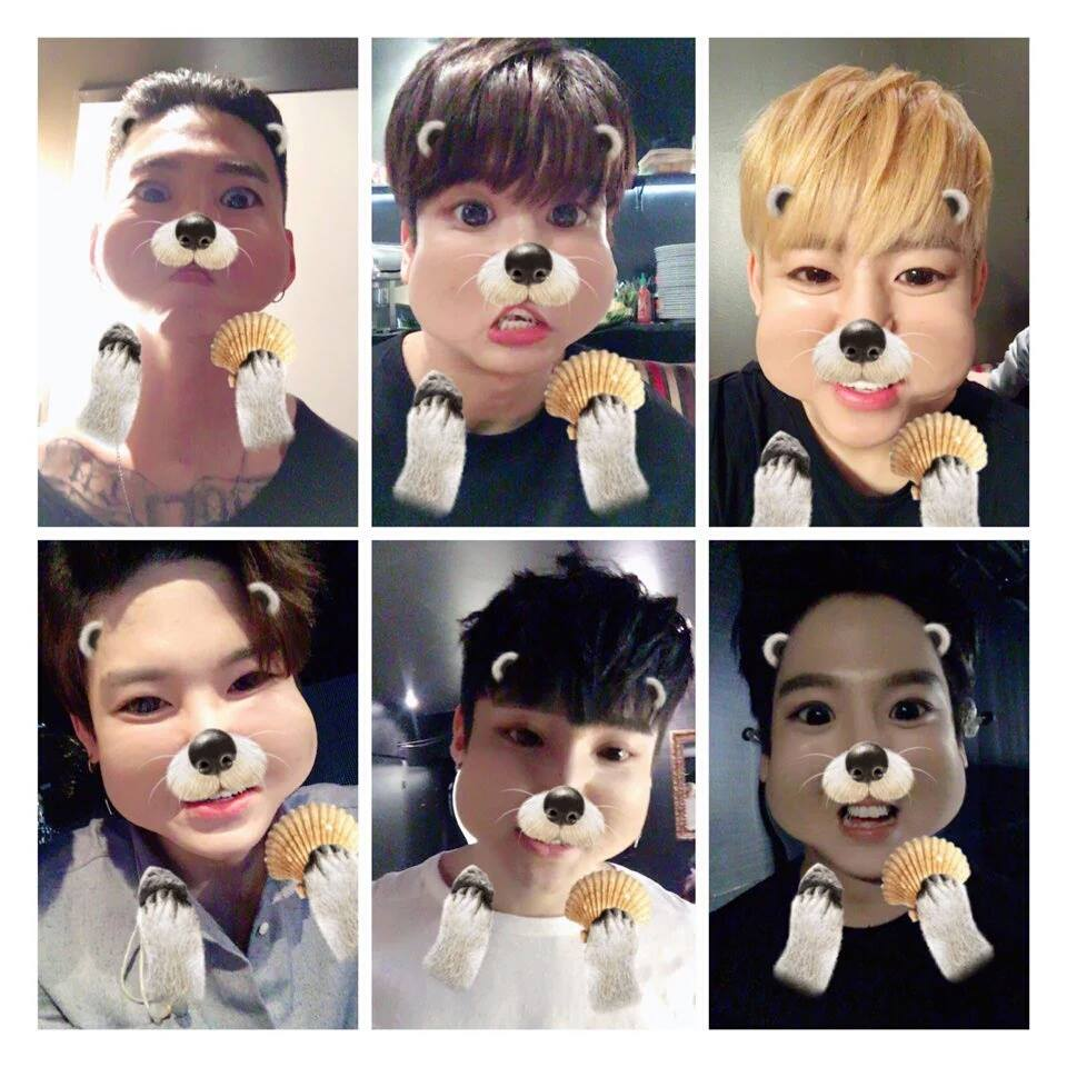 Cutest K-Pop Idols Using SnapChat and Snow Filters • Kpopmap