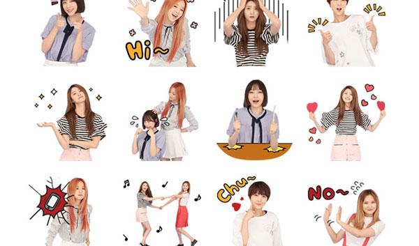 exid, exid comeback, exid lie, exid comeback 2016, exid 2016, kakaotalk emoticons, kpop kakaotalk, kpop emoticons, exid kakaotalk