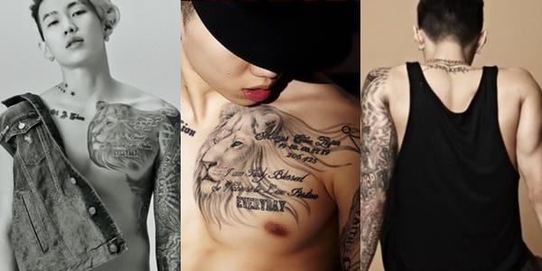 kpop idols, kpop tattoo, kpop idols tattoo, kpop idols tattoo meanings, jay park, jay park tattoos, jay park tattoo meaning