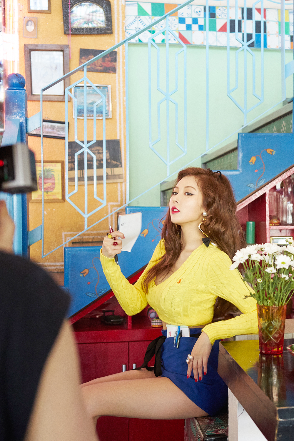 Photo Hyuna Quot A Wesome Quot Jacket Photoshoot Behind The