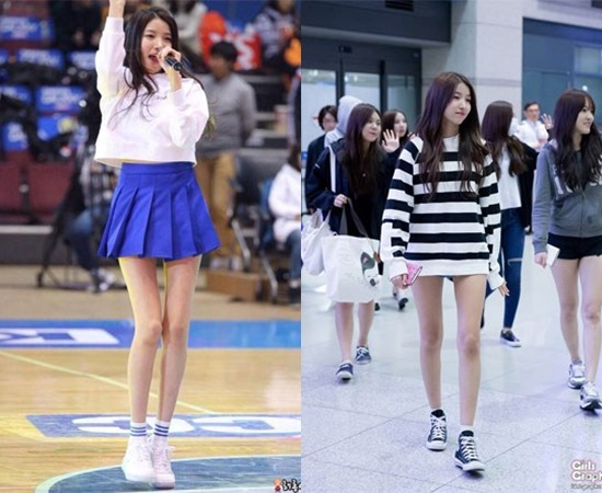 kpop idol legs, kpop sexy legs, kpop skinny legs, sowon legs