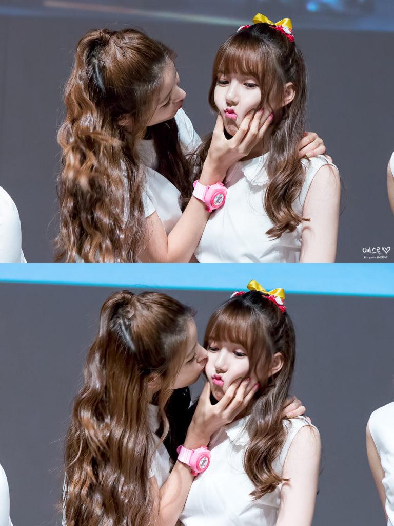 kpop skinship, skinship kpop idol, kpop idol skinship, kpop idol kiss, kpop idol hug, kpop idol expressing affection, kpop idol affection, yerin skinship, gfriend skinship