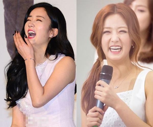 kpop idols laughing, kpop idols laugh, kpop laughing, happy laughing, laughing, bomi laugh