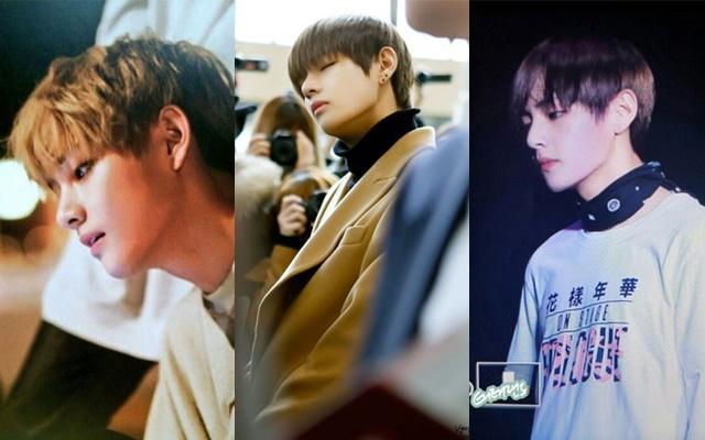 kpop, kpop idols, kpop male idols, kpop male idols side profile, kpop side profiles, kpop beauty, kpop pretty, kpop pretty idols, bts v 2016