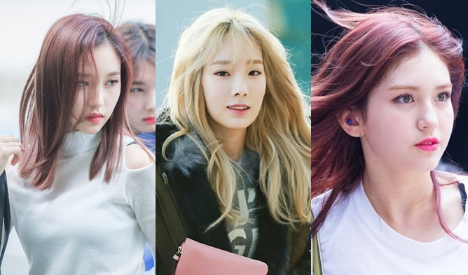 kpop idol girls, kpop girls, kpop idol hair, kpop pretty girls, pretty kpop idols, kpop wind blown hair