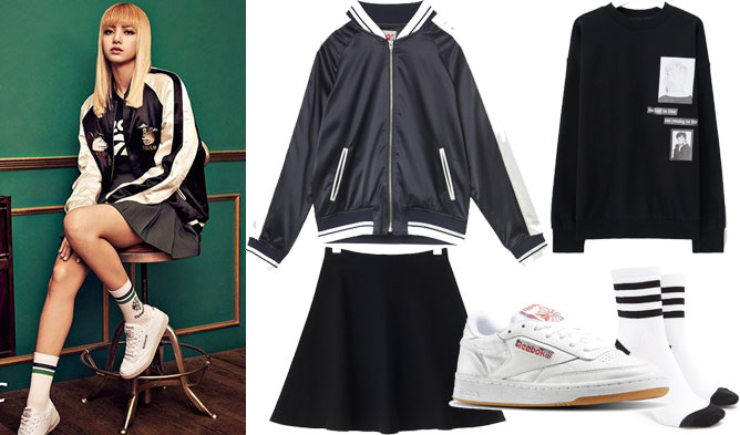 Blackpink Outfit Ideas: FAB FASHION FRIDAY: BLACKPINK Style With REEBOK's CLUB C