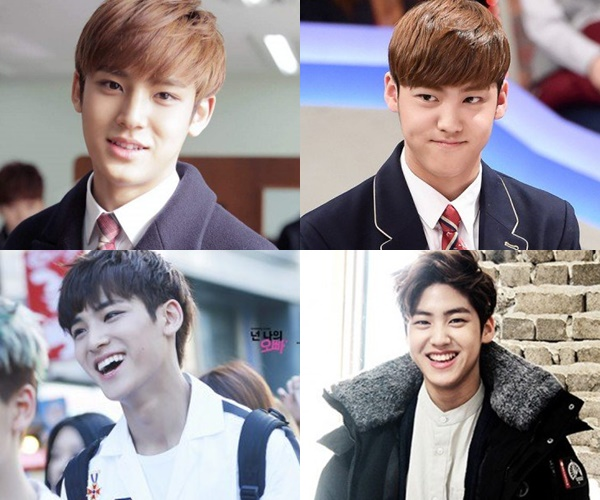 kpop idols look a like, kpop look a like, kpop similar idols, kpop similar faces, song yubin minggyu