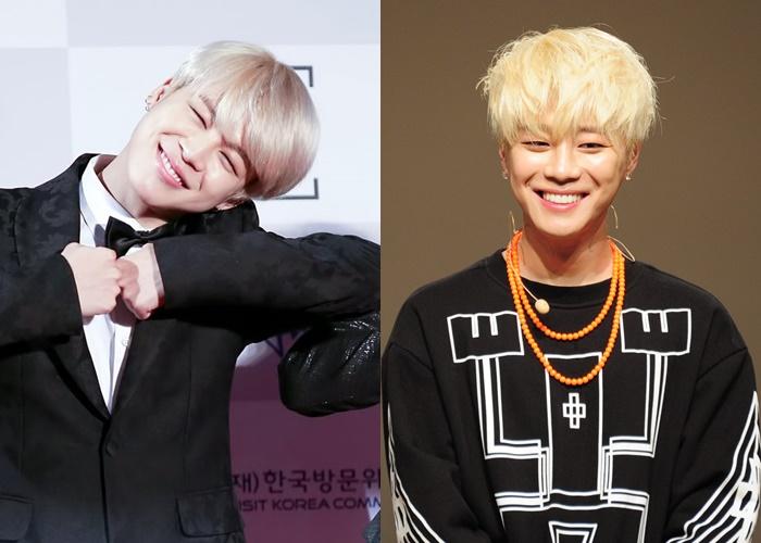 kpop doppelganger, doppelganger kpop, doppelganger idols, doppelganger twins, kpop doppelganger twins, kpop similar idols, kpop twins, jimin euijin, bts bigflo