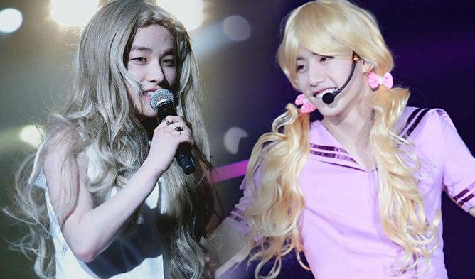 kpop girl group, kpop cross dress, kpop boys girl clothes, kpop girl group visual member, kpop visual member, ikon jinhwan, got7 mark