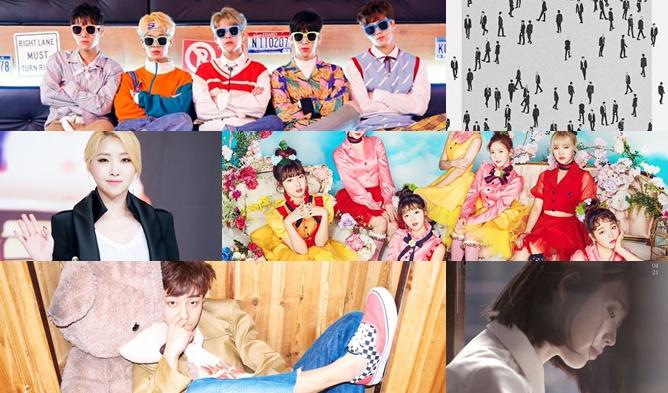 kpop comeback, kpop 2017, kpop 2017 comeback, kpop april comeback,