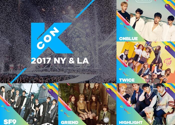kcon, kcon 2017, kcon ny 2017, kcon la 2017, kcon lineup 2017, kcon 2017 ny lineup, kcon 2017 la lineup