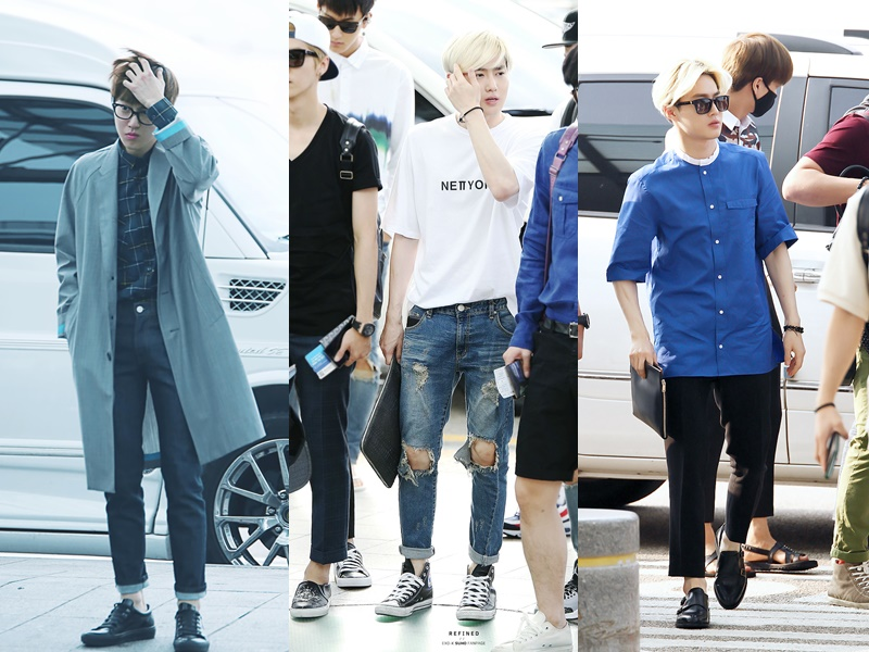 Airport Fashion 101: SuHo of EXO • Kpopmap