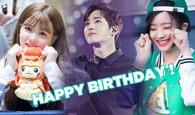 K-Pop Idols Celebrating May Birthdays