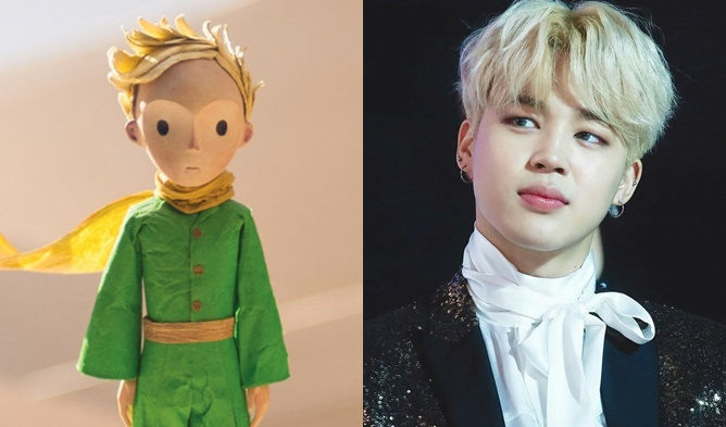 kpop the little prince, kpop male idols blonde, kpop blonde idols, jimin the little prince, jimin blonde