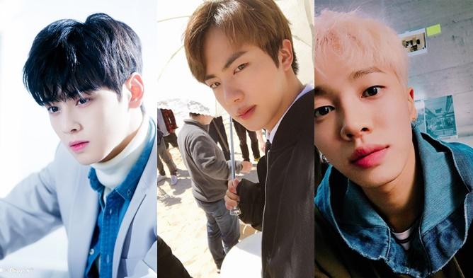 Kim HeeChul, ChanYeol, KiKwang, DongWoon, JaeHyo, S.Coups, Yook SeungJae, L, Jin, Cha EunWoo, ASTRO, BTS, EXO, SEVENTEEN, HIGHLIGHT