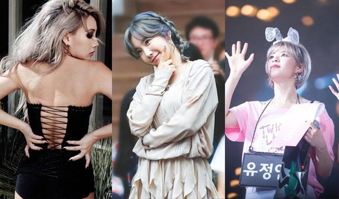 Moon Byul , HyeRi, TaeYeon, JungYeon, CL, Silver Hair Dye, TWICE, SNSD, Mamamoo, Girl's Day