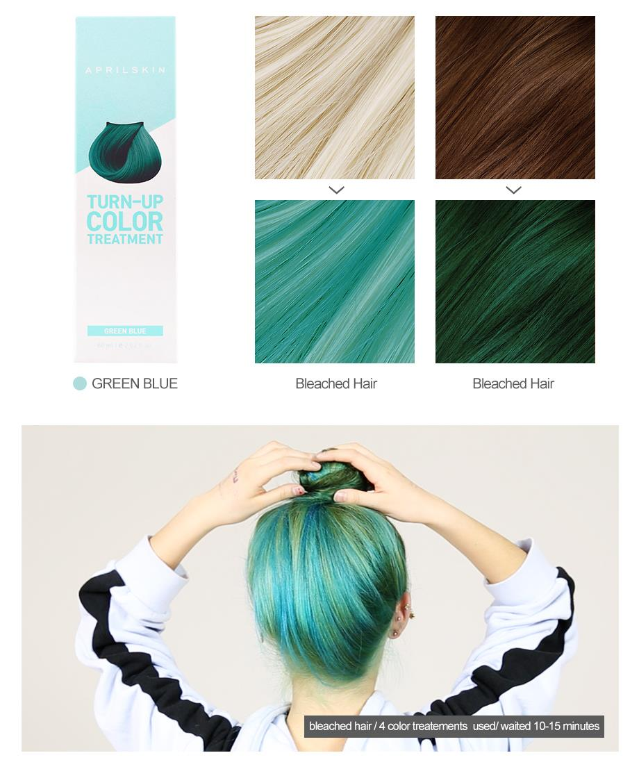 aprilskin, turn up color treatment, hair dye, korean beauty, kbeauty, kpop hair, kpop beauty