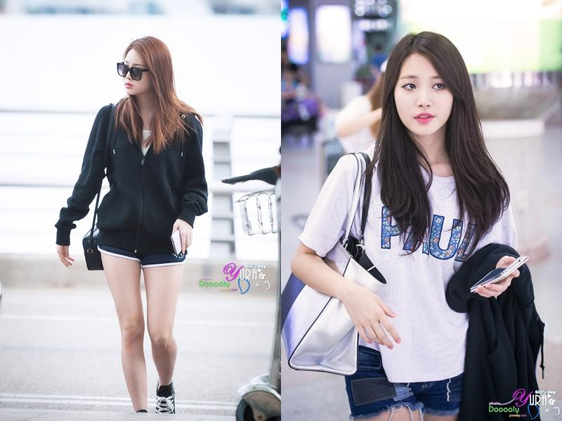 YuRa. Girl's Day, Airport Fashion
