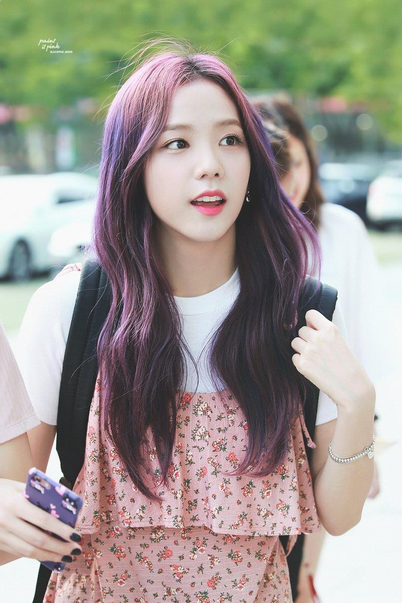 jisoo, blackpink, kpop hair dye, kpop beauty, korean hairstyles, kpop fashion hair, rainbow hair, pastel hair, aprilskin, kbeauty, korean beauty box