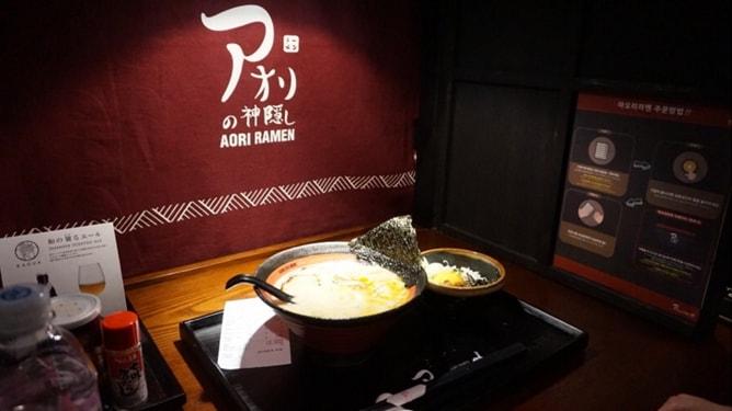 SeungRi, BIGBANG, Restaurant, Seoul Restaurant, K-Pop Restaurant, SeungRi Restaurant, Ramen, SNS, Aori Ramen