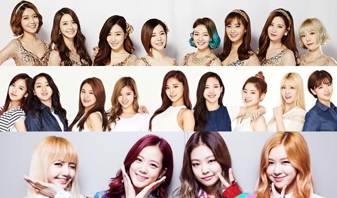SNSD, SNSD DEBUT, SM GIRL GROUP, RED VELVET, FX, JYP GIRL GROUP, MISS A , WONDER GIRLS, TWICE, YG GIRL GROUP, 2NE1, BLACKPINK