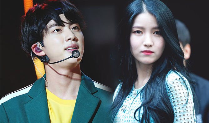 sowjin, sowon, gfirend, bts jin, sowjin couple, sowjin, jin 2017, jin ideal type, jin ideal type sowon, sowon ideal type